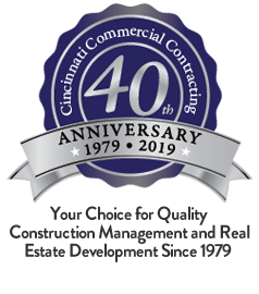 Cincinnati Commercial Contracting 40th Anniversary graphic