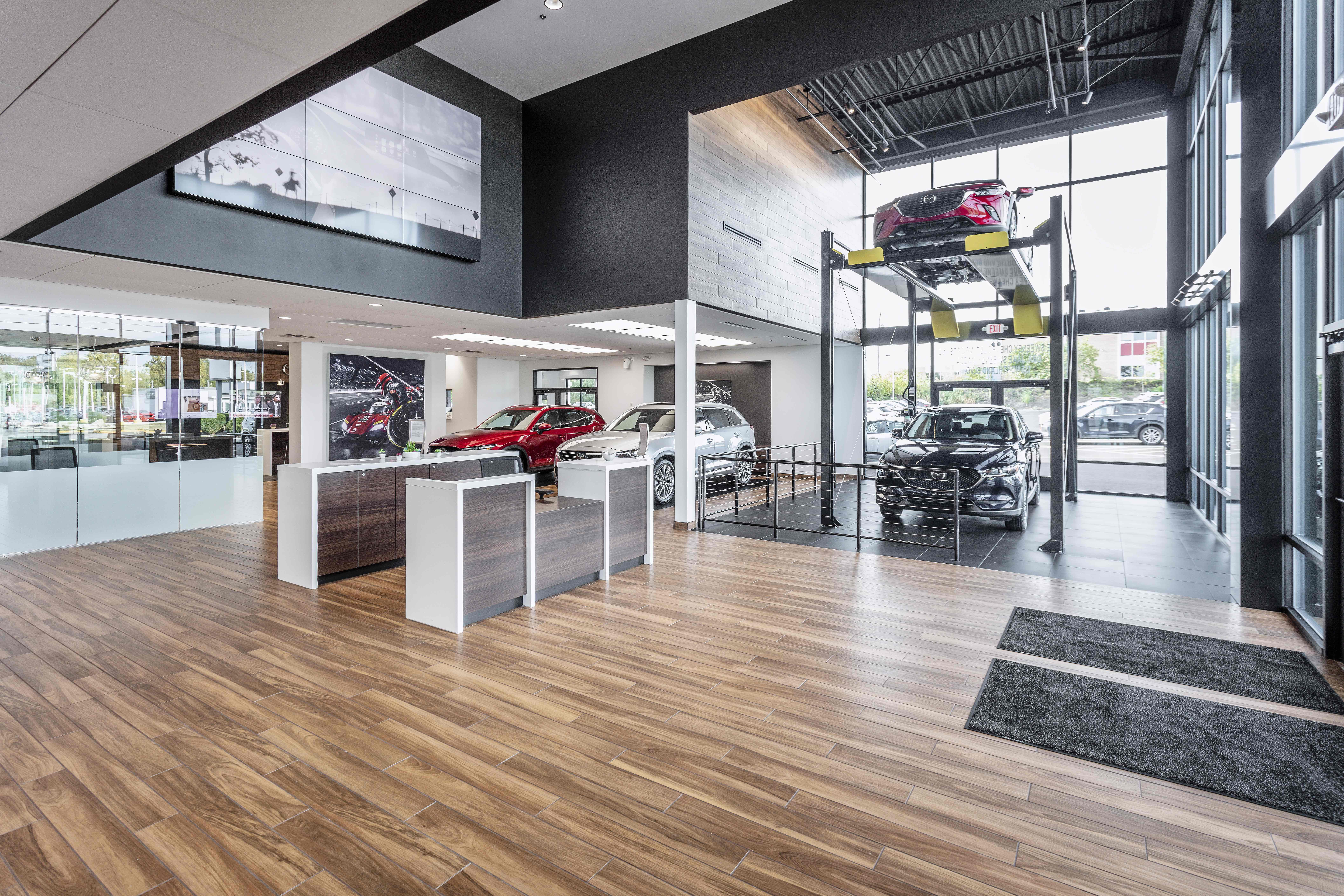 Car dealership interior construction