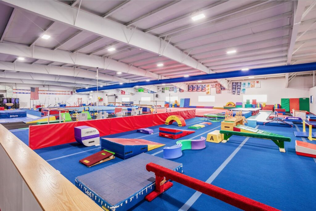 Interior of The Gymnastics Center