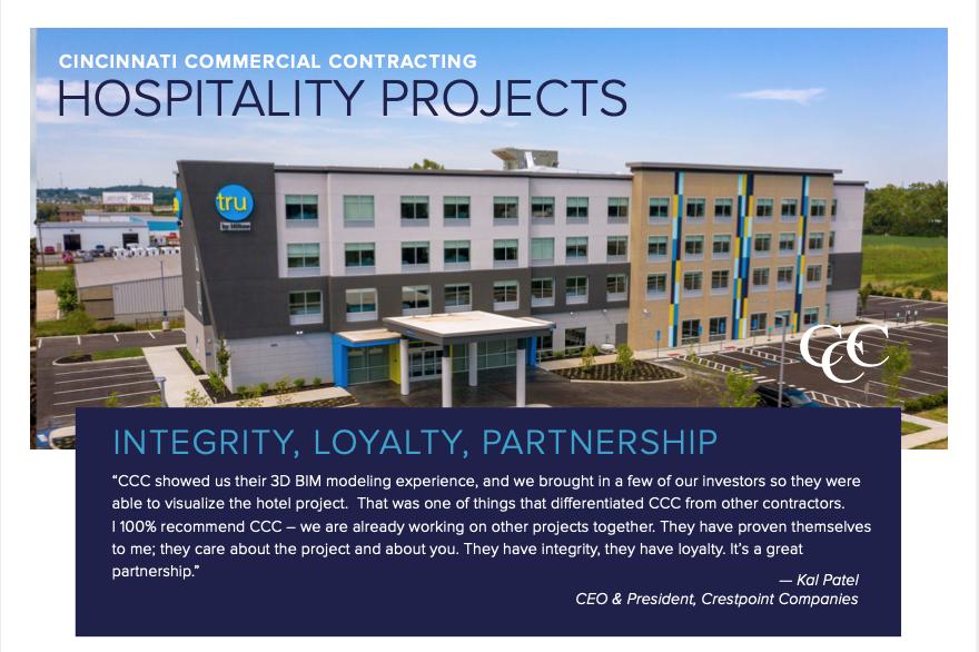 Hospitality Brochure photo