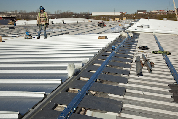photo of Seaming on MR-24® Re-Roof
