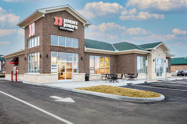 Cincinnati Commercial Construction recently completed the construction of this Jimmy John's restaurant.